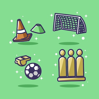 Football illustration set