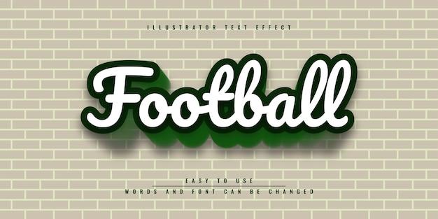 Редактируемый 3d текстовый эффект football illustrator