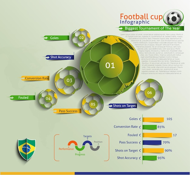 Football infographic vector background.