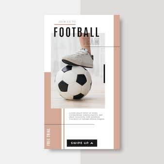 Football instagram story