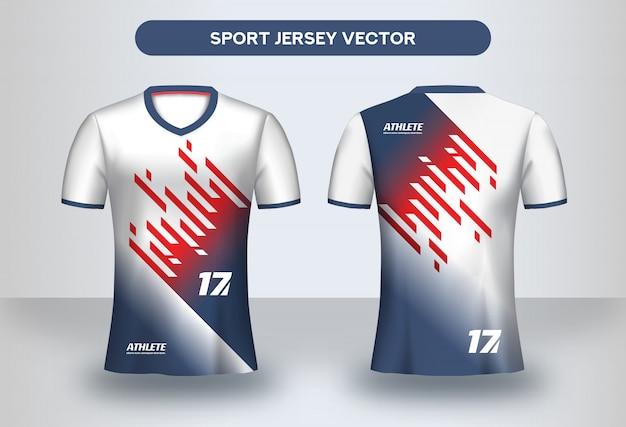 Шаблон оформления футбол джерси. фирменный дизайн, форма футбольного клуба, футболка спереди и сзади.