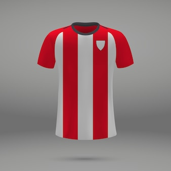 Football kit athletic bilbao , shirt template for soccer jersey