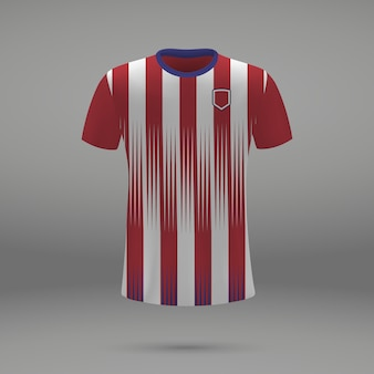 Football kit atletico madrid , shirt template for soccer jersey