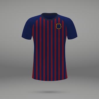 Футбольная форма барселона, шаблон рубашки для футбольного свитера