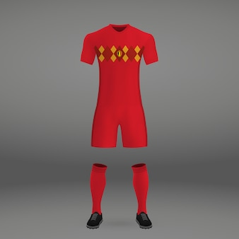 Football kit of belgium, tshirt template for soccer jersey