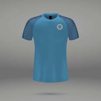 Football kit manchester city2018, shirt template for soccer jersey