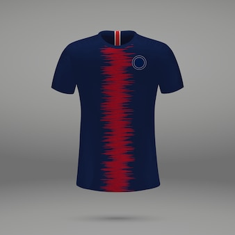 Football kit paris sg, shirt template for soccer jersey