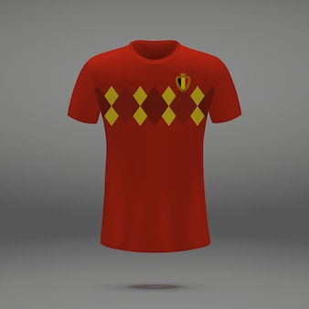 Football kit of spain, tshirt template for soccer jersey