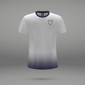 Football kit tottenham hotspur, shirt template for soccer jersey