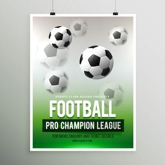 Calcio pro campionato di template campionato volantino