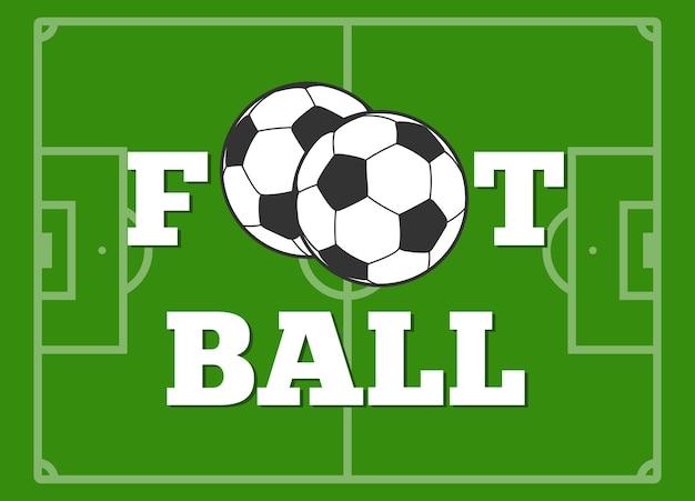 Футбольные буквы и мяч