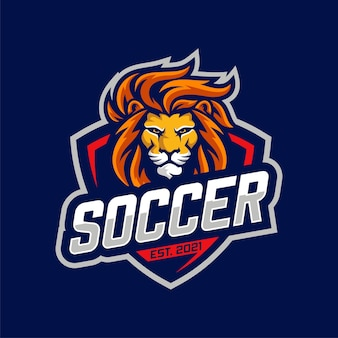 Football lion team logo