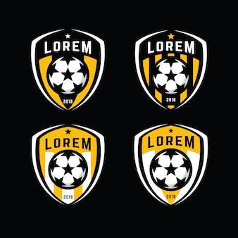 サッカーロゴバッジセット