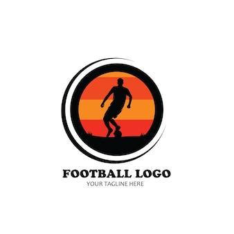 Football logo silhouette design vector