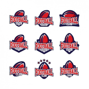 Football logo templates design