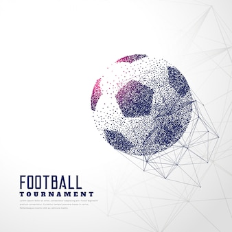 Football made with particle dots and wire mesh