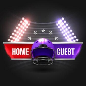 Football night illustration with scoreboard