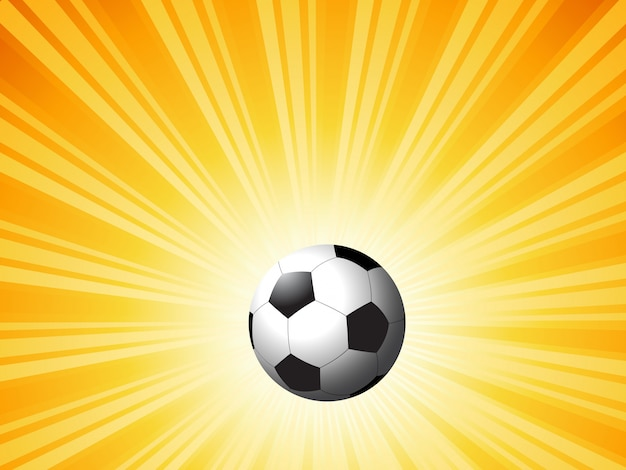 Футбол на яркой вспышке звезды