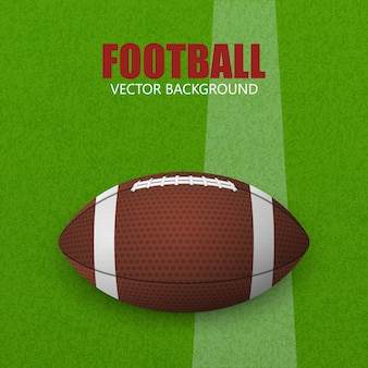芝生のフィールドでサッカー。ベクトルイラスト。芝生のフィールドでサッカーボール。