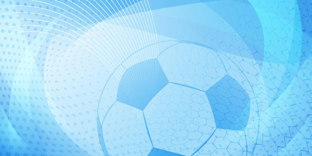 水色の大きなボールとサッカーやサッカーの背景