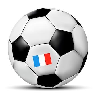 Футбол или футбольный мяч с флагом франции