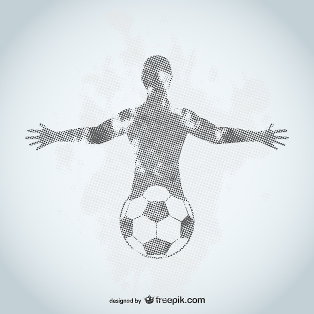 サッカー選手グランジデザイン