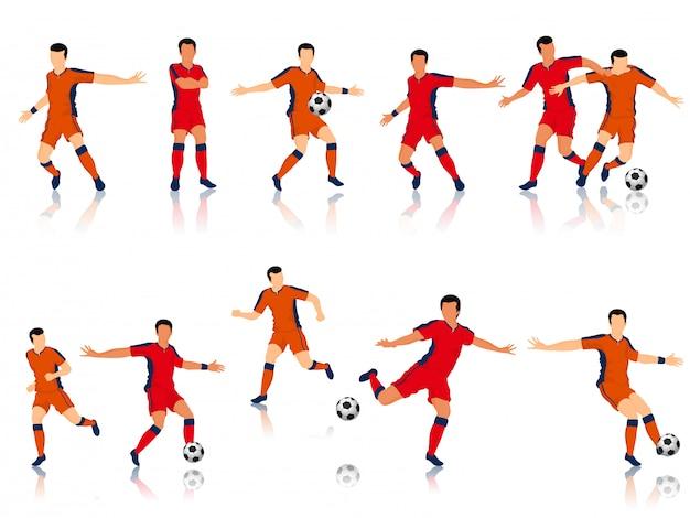 Football players character.