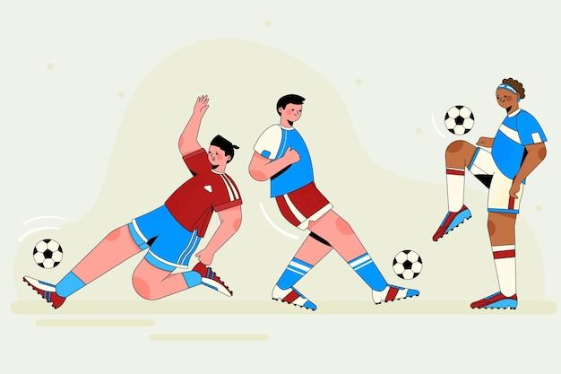 Collezione di calciatori football