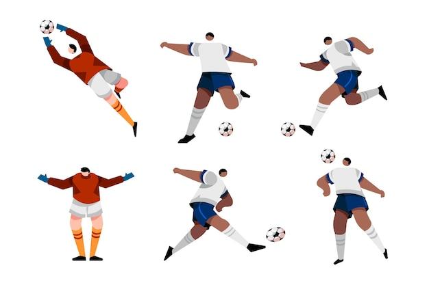 サッカー選手のイラストデザイン