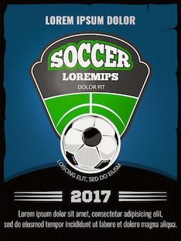 Футбольный постер