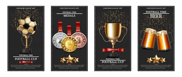 Football prize and medals