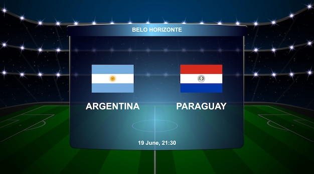 Football scoreboard broadcast graphic