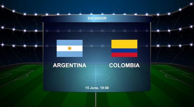 Football scoreboard broadcast
