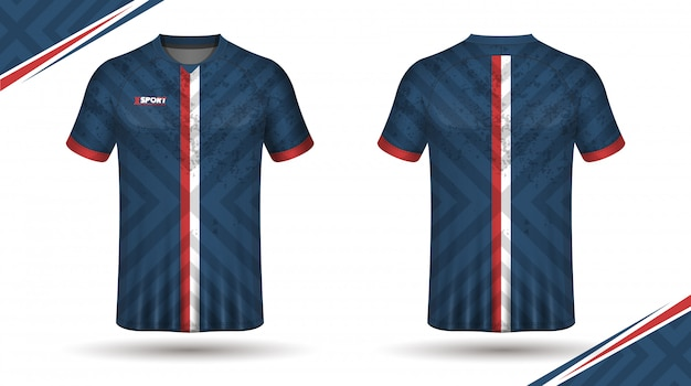 Football shirt template back and front