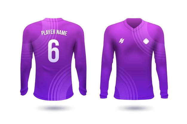 数字のある選手のためのサッカーシャツ