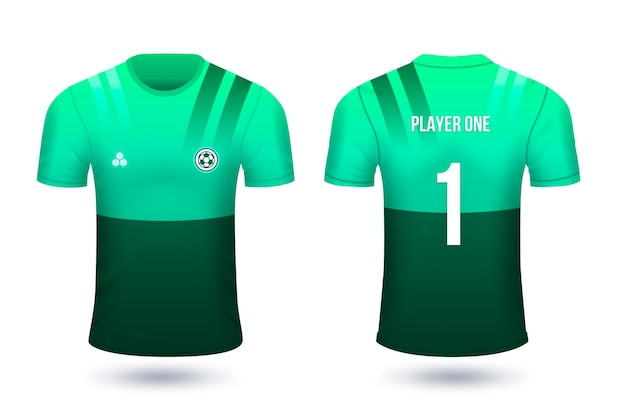 Football shirts for players with numbers