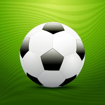 Футбольный футбольный мяч на зеленом фоне. векторная иллюстрация