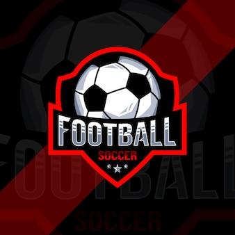 Football soccer championship logo design