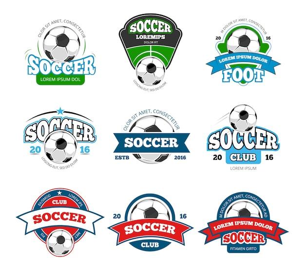 サッカーサッカークラブのベクトルロゴ