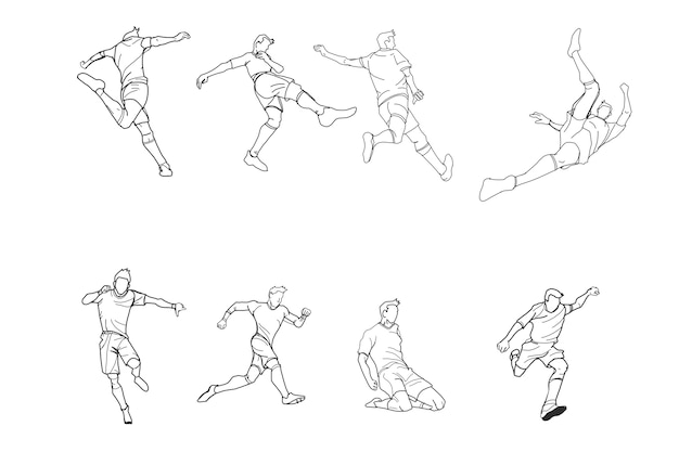 Football or soccer doodle by hand drawing.