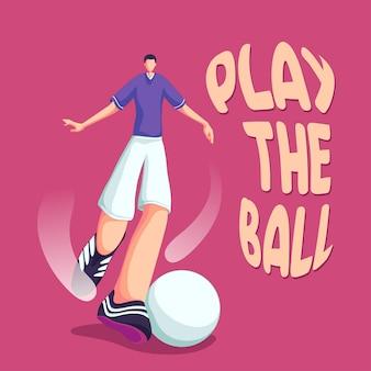 Football soccer dribbling the ball