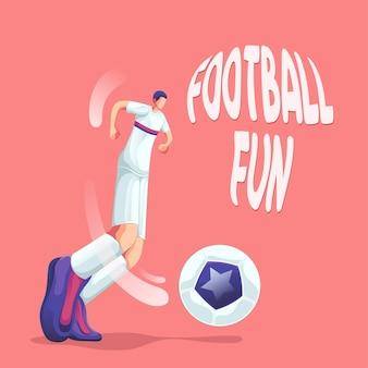 Football soccer fun play the ball