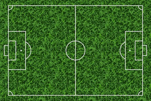 Футбол, футбольное поле зеленой травы