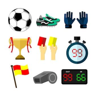 축구 축구 관련 개체 스포츠 일러스트 세트