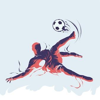 サッカーサッカースプラッシュシルエット