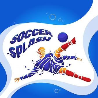 Football soccer splash silhouette