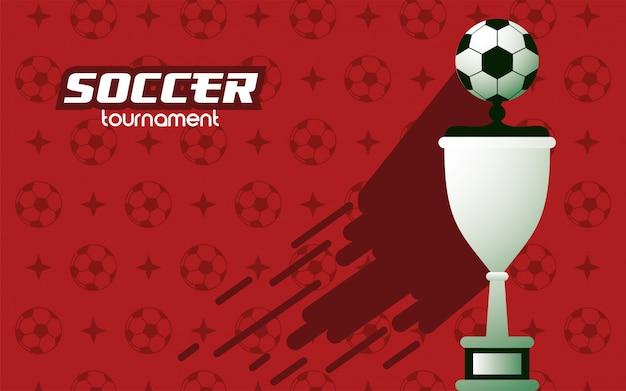 Футбол футбол спорт с наградой кубка