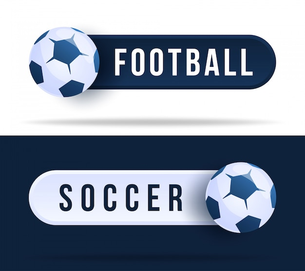 Football or soccer toggle switch buttons. illustration with basketball ball and web button with text
