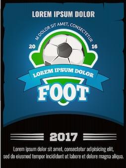 Футбольный футбольный векторный плакат