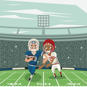 Football sport championship tournament cartoon